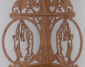 Handmade Praying Hands Corner Shelf