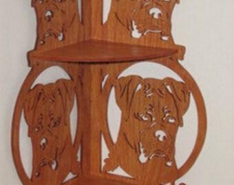 Boxer Dog Corner Shelf