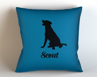 Custom Dog Name Decorative Throw Pillow/ LABRADOR / Personalized/ Choose Color/ Custom Name// Dog Pillow/ Dog Lover/ pet pillow