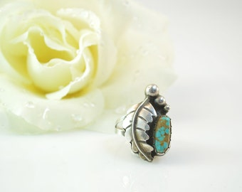 Navajo Style Turquoise Ring Size 10.5 - 7.4g