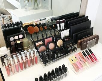 Acrylic makeup organizer organiser storage divider set -