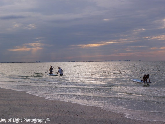 Beach Photography, Silhouette, Water sports Photography,Paddle Board Photography,Family Fun,Nature Photograph, Beach photograph,5445(2)
