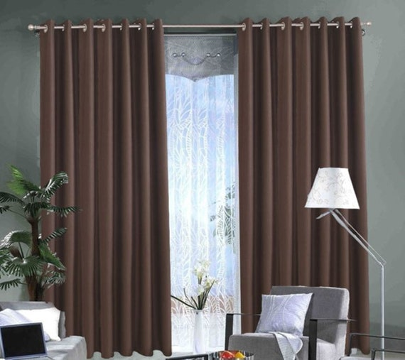 Brown Curtains Window Curtain Panels Linen By