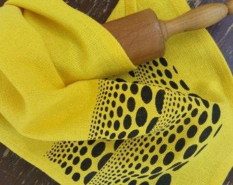 Kusama Tea Towel Hand Towel Polka Dots Abstract Art