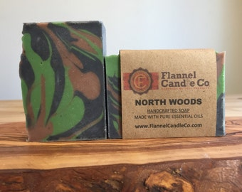 North Woods Cedar and Citrus Essential Oil Soap