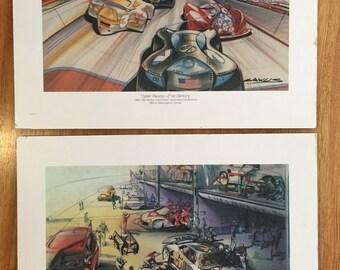 Car  Posters / Vintage GM Car Racing  Prints / Vintage GM Automotive /Car Conference Posters / Cyber Racing / Vintage Poster