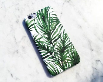 Fiji Palm phone case cover, iPhone 7, iPhone 6, iPhone 5, Samsung Galaxy, S5, S6, S7, palm, print, plant, green, tropical