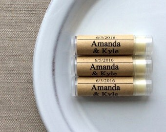 25 Personalized lip butter favors, personalized lip balm favors, Wedding lip balms, bulk lip balms, Wedding favors, birthday party favors