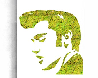 Panel plant, plant, plant table, greenhouse, plant frame, organic artwork, plant, green, The King, Elvis Presley design