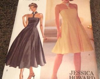 Butterick 3310  Sewing Pattern Jessica Howard Petite Dress Close Fitting Flared Boned Lined Dress Princess Seams Size 14 16 18