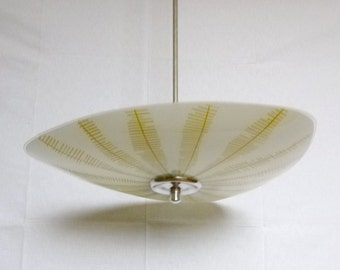Mid century glass ceiling lamp, 1950