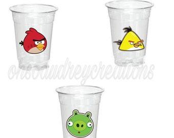 Angry birds party cups, angry birds party, angry birds, angry birds theme