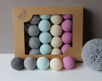 Cotton Balls Lila Pastel 10