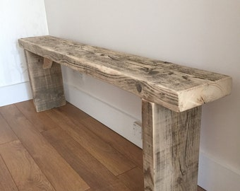 how to make a rustic bench seat timber