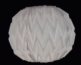 White Round Geometrical Shaped Folding Paper Lantern Shade - 16UQ1-WH