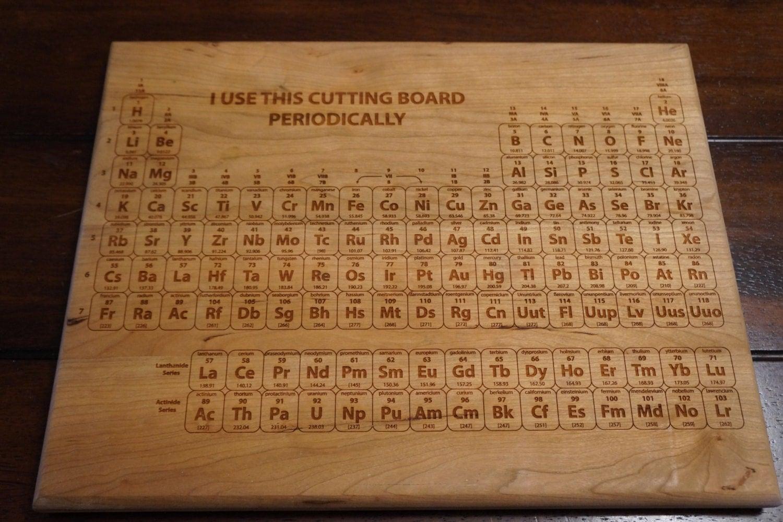 Cutting board periodic table cutting board - Periodic table chopping board ...