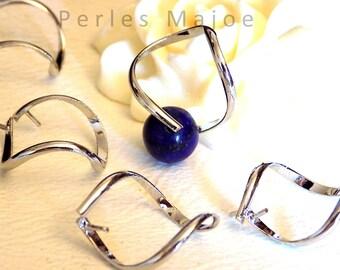 Lot de 2 pendentifs forme spirale avec pince pour perle