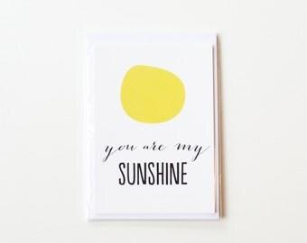 You Are My Sunshine Postcard Set