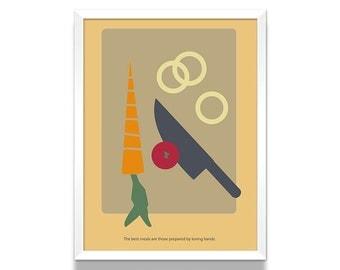 Cooking Poster, Kitchen Poster, Kitchen Wall Art, Kitchen Art Print, Home Decor