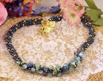 Palmyra Kumihimo necklace