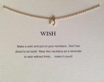 Wish Necklace - Wishbone