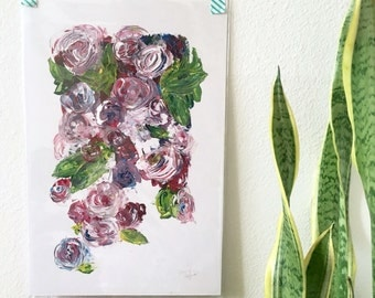Floral Acrylic Painting 10.5x15 - Original and Prints