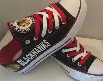 Chicago black hawks  tennis shoes