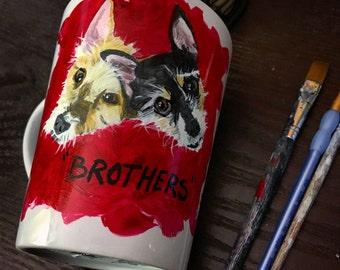 Brothers- Pet Portrait Coffee Mug