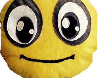 Plush pillow, Custom plush toy, Room decor, Geek pillow, Yellow plush pillow, Handmade plush pillow,Smiley Icon pillow, Decorative pillows