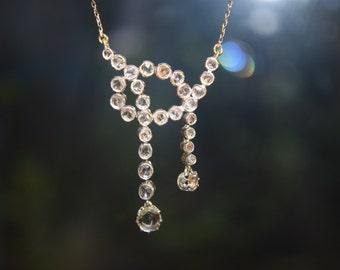 antique rose diamond necles