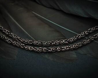 Copper Chain Wire Wrapped copper necklace handmade Chain Wire wrap jewelry Copper jewelry Copper necklace wire wrapped jewelry
