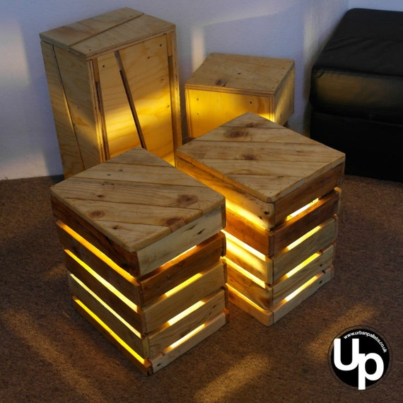 X2 super cool side table upcycled retro by urbanpallets247 for Cool side tables