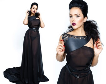 Lasercut Shoulder Harness,Wrap harness,High Fashion,Shoulderbelt,Goth,harness,Bridal belt,Dress harness,bridesmaid leather belt,gift,custom