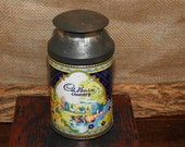 Vintage 1950s Cadbury Advertising Milk Can Collectable Tin made in England