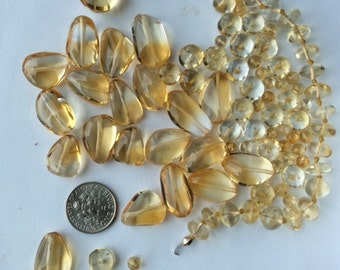 Citrine Lustrous bead Lot