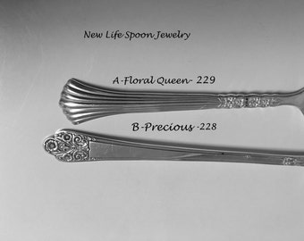 """Spoon Bracelet """"Choose Your Pattern"""" Vintage Spoon Jewelry Fork Jewelry Handmade Christmas Gift Spoon Ring Antique Jewelry -3"""