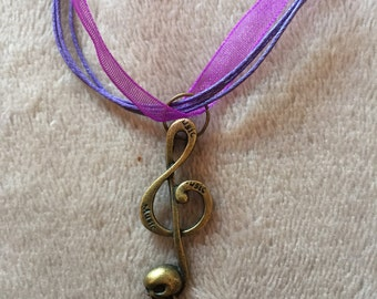 Skull Musical Note Necklace