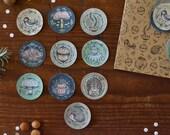 "Sticker Set - Autumn Sparkles  (3,8cm / 1,5"")"