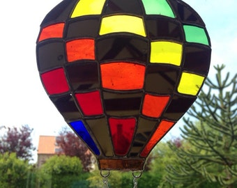 Stained Glass Hot air ballon Sun-Catcher Gift Decoration