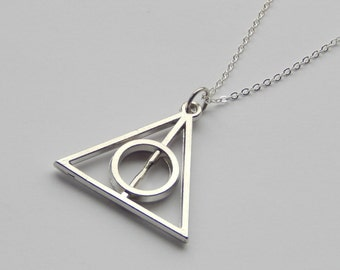Harry Potter Deathly Hallows Necklace Silver