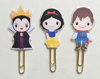 Fairy Tale Snow White Double Sided Planner Clip - Made to Order