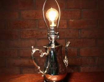 Silver Tea Pot Lamp