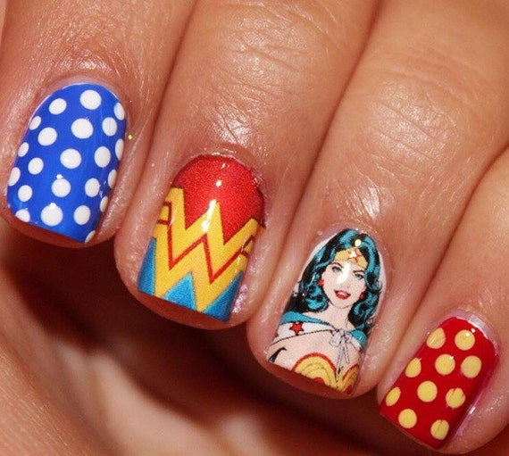 Nails Wonder Woman Can Nail Art Be Feminist: Wonder Woman Nail Decals From AMnails On Etsy Studio