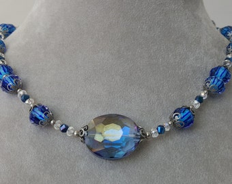 Lampwork & Crystal Necklace