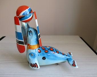 Seal Tin Toy