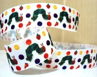 Hungry Caterpillar 1 inch Ribbon by the yard