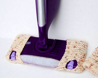 Set of Two Reusable Knitted Swiffer Covers!  Swiffer pad - replacement pad for swiffer