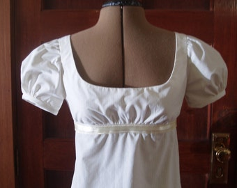 Jane Austen Dress or Jane Bennet's Regency Gown Sizes 6-14