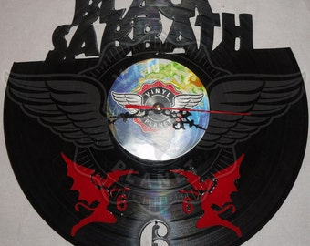Vinyl Wall Clock BLACK SABBATH