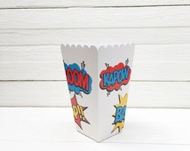 Pack of 10 Popcorn Boxes Super Heroes, Avengers Popcorn Boxes, Super Heroes Birthday Party, Super Heroes Candy Buffet, Super Heroes Boxes